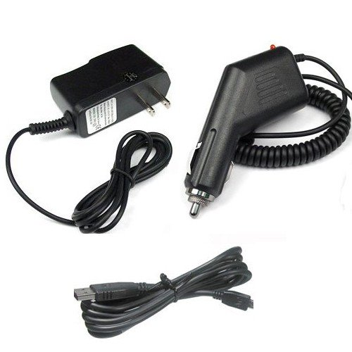 Garmin Gpsmap 76 Accessories (Chargers Bundle for Garmin GPS GPSMAP 60CSx, 60, 60C, 60CS, 60Cx, 62, 62s, 62st, 76, 76Cx, 76CS, 76CSx, 76S, 76C, 78, 78s, 78sc - Car Charger + Home Travel AC Charger + USB Data Cable)