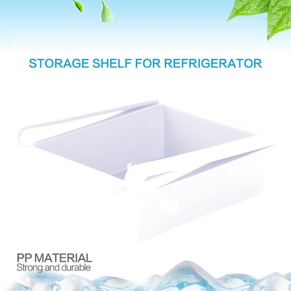 Gaddrt - Estante para frigorífico y almacenamiento de alimentos, contenedor de alimentos, herramientas de cocina blanco: Amazon.es: Hogar