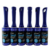 6 Pk. Evercare Compact Travel Size 30-Sheet Lint Rollers Removers