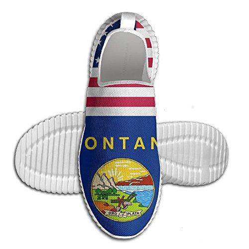 Mocassini Usa Montana Bandiera Donna Mocassini Da Uomo Scarpe Da Corsa Mesh Traspirante Outdoor Sport Scarpe Da Passeggio Bianco