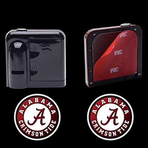 2PCS 5W Universal Wireless Courtesy No Drill Magnetic Car LED Door Welcome Projector Logo Ghost Shadow Laser Lights for Alabama Crimson Tide Team Logo Auto Accessories (Led Lights For Cars Wireless compare prices)