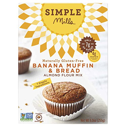 - Simple Mills Almond Flour Mix, Banana Muffin & Bread, Naturally Gluten Free, 9 oz - 3 pack