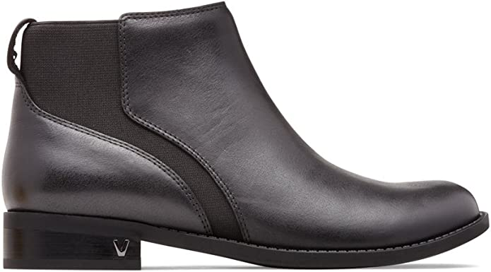 NIB Women's Vionic Country Thatcher Black Leather Ankle Pull On Boots Size 6