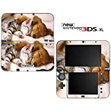 Sleeping Puppy Kitty Decorative Video Game Decal Cover Skin Protector for New Nintendo 3DS XL (2015 Edition)