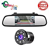myTVS TRV-37 4.3' Car Rear View Mirror & Reverse Camera For All Cars (Black)