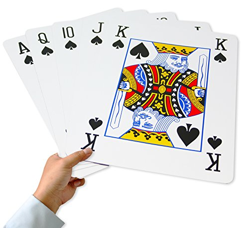 Super Giant Jumbo Playing Cards, Full Deck of 8 x 11 Inch Humongous Playing - Cards Playing Giant