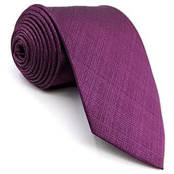 Shlax&Wing Color Sólido Morado Purplish Rojo Corbatas Para Hombre ...