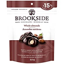 BROOKSIDE Christmas Dark Chocolate, Whole Almonds, Stocking Stuffer, 210 Gram