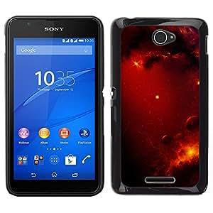 Batalla Sangrienta En Las Nubes - Metal de aluminio y de plástico duro Caja del teléfono - Negro - Sony Xperia E4