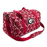 Georgia Bulldogs UGA Duffel Bag Large Quilted Travel Bag