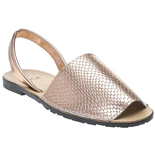 Gold Toucan Rose Metallic Sole Sandals Snake wZqn0p
