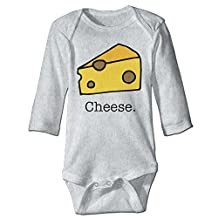 Piece Of Cheese Unisex Baby Infant Long Sleeve Bodysuits Side-snap In 3 Colors