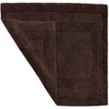 1 Piece 21 X 34 Java Brown Hydro Soft Bath Rug, Ice Large Solid Color Plush Super Soft Comfort Mat Reversible Fast Drying Absorbent Step Out Shower Sink Jack And Jill Bathroom Bathmat Luxury, Cotton