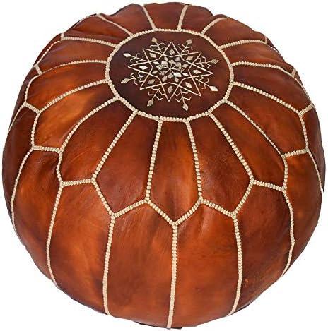bohemiamarrakech Pouf Ottoman,Moroccan Ottoman Leather Pouf Moroccan Pouf Moroccan Leather Ottoan Pouffe Pouf Footstool Leather Natural