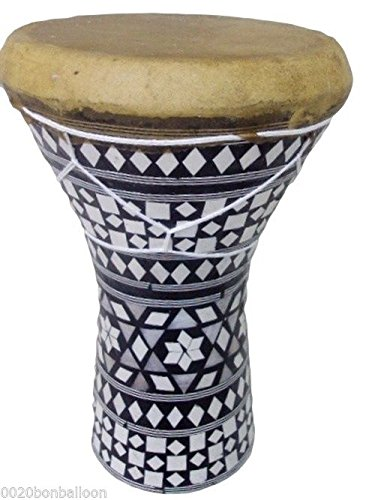 1PCS Large Egypt Wooden Tabla Drum Doumbek Goat Skin Inlaid 11'' Handmade 426 ,WHO#-MVOW382HRT7600 by Kenlulu INC