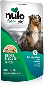 Nulo, Freestyle Puppy & Adult Chicken, Duck & Kale Recipe Dog Food Pouch, 2.8 oz
