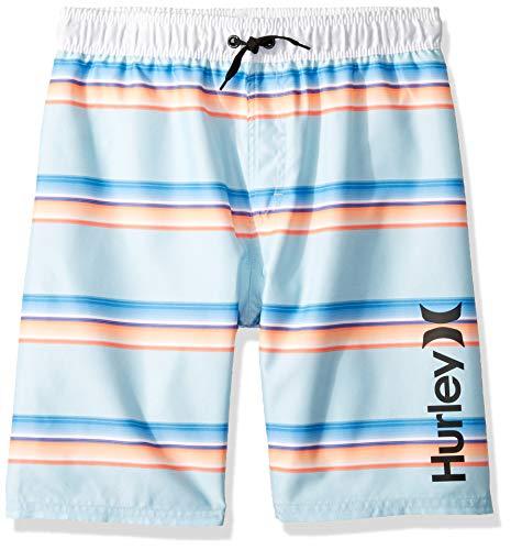 Hurley Boys' Big Pull On Board Shorts, Topaz Mist Stripe, L ()