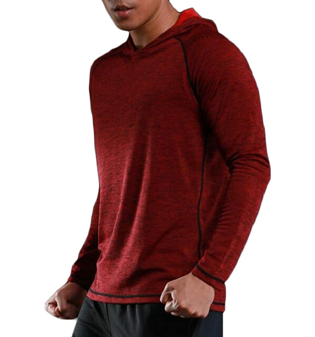Sweatwater Men Loose Fit Breathable Pullover Active Hooded Sweatshirts Jacket