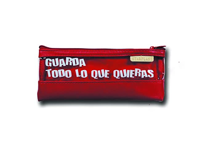 170085 - Pack de 2 estuches de plástico con frase, colores ...
