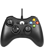 Xbox 360 Wired Controller, Etpark USB Gamepad, Joypad with Shoulders Buttons, for Microsoft Xbox 360/Xbox 360 Slim/PC Windows 7 8 10 Game (Black)