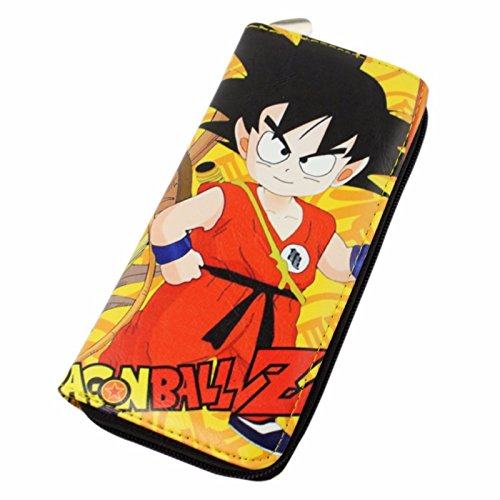 new Cuero Piel Cartera Multi-bolsillos Cartera hombre Purse Dragon Ball Z En pie Dragon Ball rare