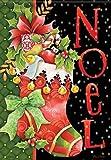 "Cheap Carson Flag Trends – ""Noel Stocking"" 28″ X 40″ Christmas House Flag"