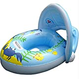 Gbell Swim Float Seat Boat for Baby Toddlers Infants,Pool Inflatable Safe Raft Kid Swimming Ring Water Car (Blue)
