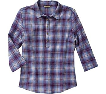 Amazon.com : Royal Robbins Women's Oasis Plaid Pullover Top ...
