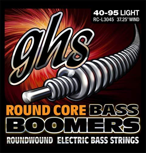 GHS Strings GHS Round Core Bass Boomers, 4-String Set, Light Gauge (37.25