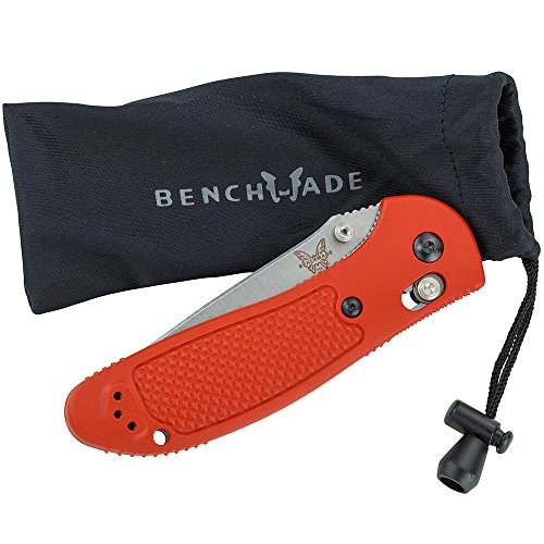 Benchmade - Griptilian 551 Knife, Plain Trainer, Satin Finish, Orange Handle