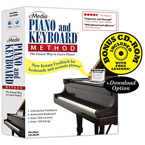 eMedia Piano and Keyboard Method v3 - Amazon Exclusive Edition with 150+ Additional Lessons - Emedia Piano Software