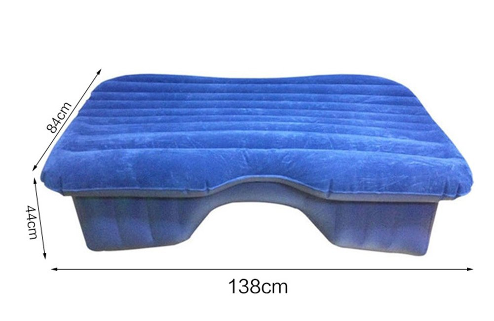 Universal Car Inflatable Mattress Camping Air Bed Cushion Foldable SUV Extended Portable Travel Outdoor Air Pads with Air Pillows Air Pump Creamy White, Black DMGF