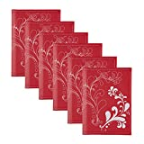 DesignOvation Flourish Red Photo Album, Holds 36 4x6 Photos, Set of 6
