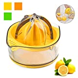 Cheap Citrus Juicer,Lemon Squeezer,Citrus Orange Squeezer Manual Hand Juicer Lime Press Anti-Slip Lid Rotation Reamer with Strainer and Container by Kasmoire