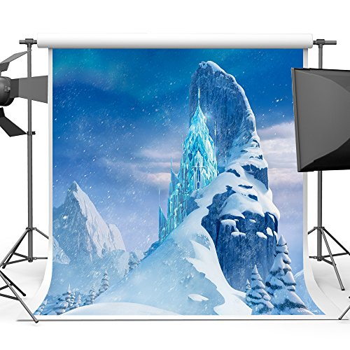 Blue Ice Worlds Fairy Tale Photography Backdrop for Baby Photoshoot 5x7ft Vinyl Crystal Castles Mountain Snow Photo Background Studio Shooting Props (Pictures Ice Crystal)