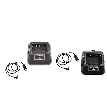P Prettyia 2 Pedazos Adaptador USB Cargador para Baofeng UV ...