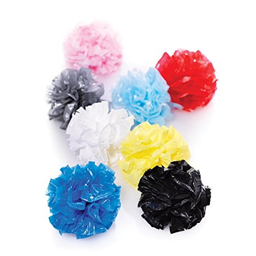 """TCDesignerProducts Light Blue Poly Pom Poms - 50 pack - 4"""" diameter price tips cheap"""