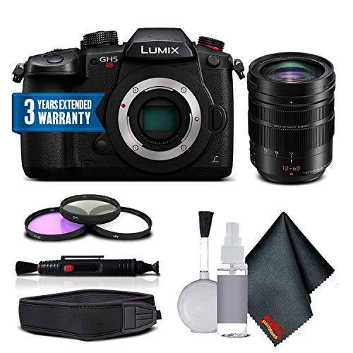 Panasonic Lumix DC-GH5S Mirrorless Digital Camera with Leica DG Vario-Elmarit 12-60mm Lens Combo (International Model) For Sale