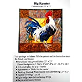 rooster quilt pattern - Applique Quilting Quilt Pattern Only, Big Rooster, Including Full Size Pattern & Instruction Sheet