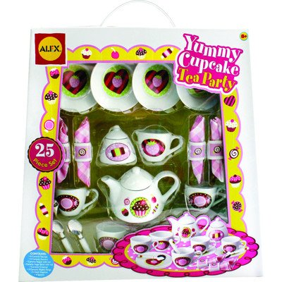 Alex Yummy Cupcake 25 Piece Tea Party Set