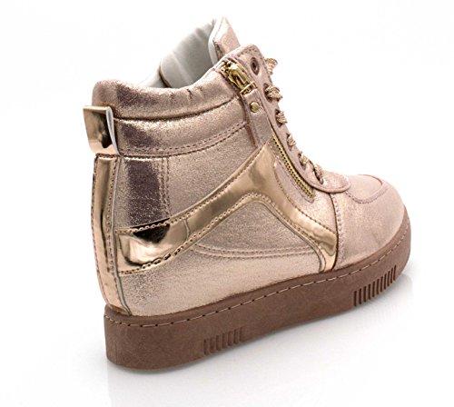 Oui Fashion Altas Zapatillas Mujer champán wwRrZq