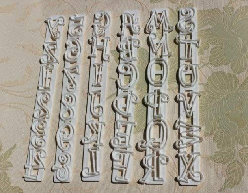 Fondant Cake - 6pcs Fondant Cake Number Letter Decorating Cutter Mould - Toppers Sugar Letters Horse Pops Mat Pattern Designs Molds - Letter Horse