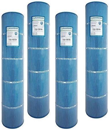 4 Guardian Antimicrobial Pool Spa Filter Replaces Hayward CX875RE Swim Clear C4500 PA112 Unicel C-7489 Filbur FC-1275 Microban