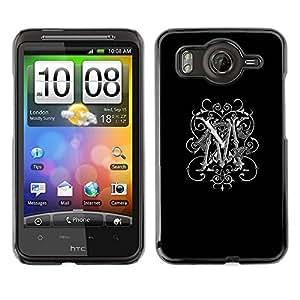 TopCaseStore / la caja del caucho duro de la cubierta de protección de la piel - Love Black Maggie Marie White - HTC G10