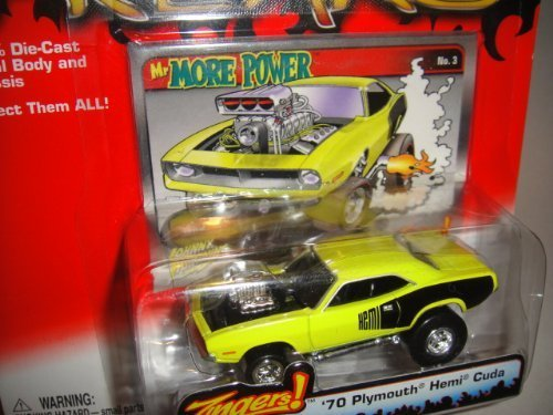 Plymouth Hemi Cuda Body - JOHNNY LIGHTNING STREET FREAKS ZINGERS! MR. MORE POWER YELLOW 1970 PLYMOUTH HEMI CUDA DIE-CAST