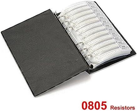 100pcs 0805 SMD Resistor ±1/% 1//8W SMT//Chip Resistance 10k 100k 220k 470k to 910k