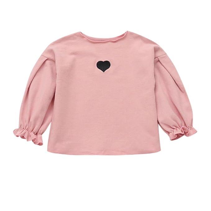 Amazon.com: Pollyhb Camiseta para niña, para invierno, con ...