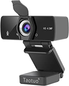 2K Webcam with Microphone, 4MP HD Webcam with Privacy Cover, Desktop Laptop Computer Web Camera, Plug and Play, for Video Streaming Calling Conferencing Recording Gaming