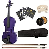 Cecilio CVN-Purple 4/4 (Full Size) Ebony Fitted Orchestra Dark Purple Violin with Hard Case
