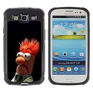 ZAKO Cases / Samsung Galaxy S3 I9300 / Funny Muppet Beaker Meme / Robusto Prueba de choques Caso Billetera cubierta Shell Armor Funda Case Cover Slim Armor